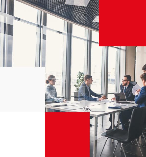 corporate meeting in modern office